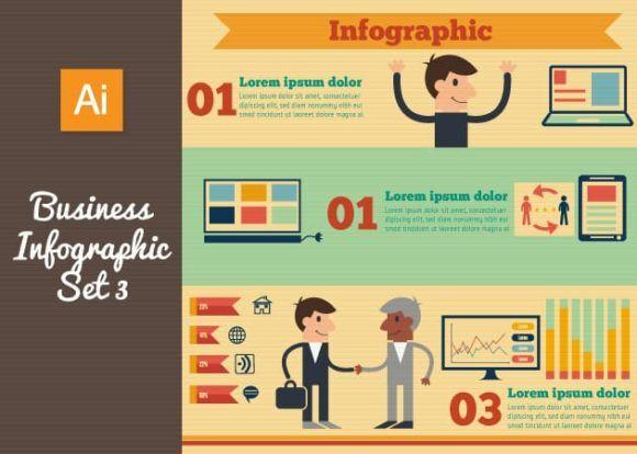 Business Vector Infographics Set 3 Infographics building