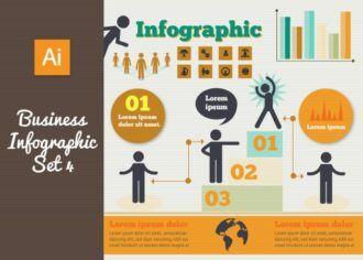 Business Vector Infographics Set 4 Infographics flat