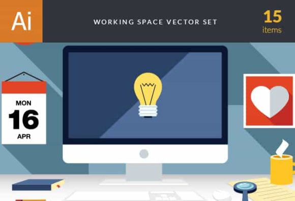 Business Work Space Vector Set 3 Vector packs mouse