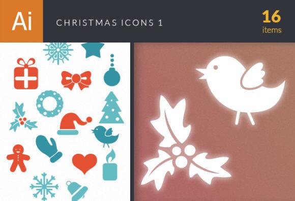 Christmas Icons Vector Set 1 Vector packs star