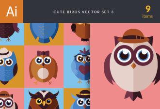 Cute Birds Vector Set 3 Vector packs birds