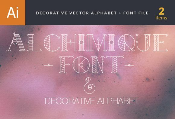 Decorative Alphabet Vector Vector packs abstract
