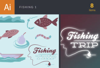 Fishing Vector Set 1 Vector packs fish