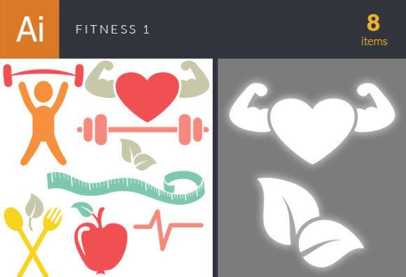 Fitness Vector Set 1 Vector packs Editor's Picks – Icons & Logos