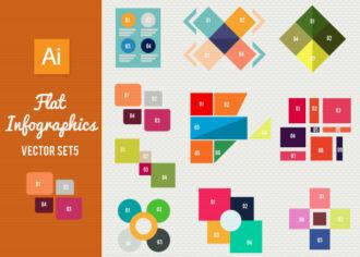Flat Infographics Set 5 Infographics abstract