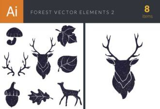 Forest Vector Elements Set 2 Vector packs leaf