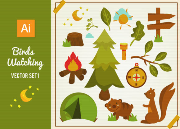 Forest Vector Set 1 Vector packs tree