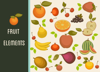 Fruits Vector Icons Set 1 Vector packs cherry