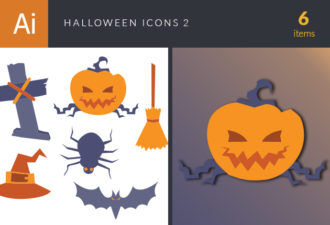 Halloween Vector Icons Set 2 Vector packs bat
