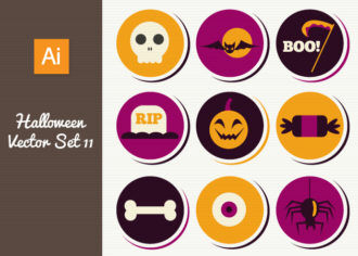 Halloween Vector Set 12 Vector packs skull