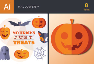 Halloween Vector Set 9 Vector packs cat