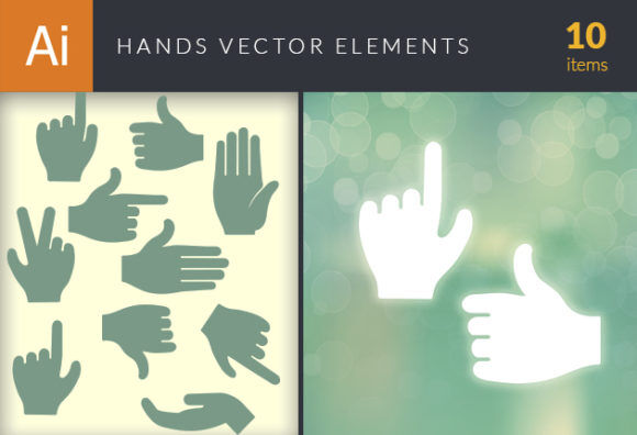 Hands Vector Elements Set 1 Vector packs people