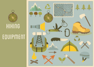 Hiking Equipment Infographics Vector Infographics [tag]