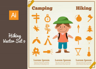 Hiking Vector Set 9 Vector packs nature