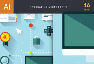 Infographic Vector Set 3 Infographics ribbon