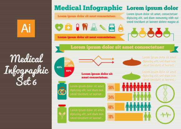 Medical Vector Infographics Set 6 Infographics heart