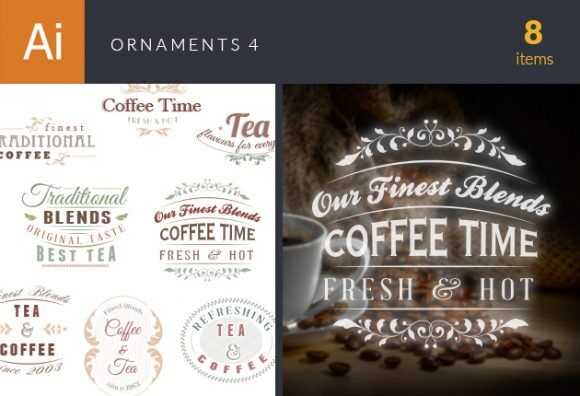 Ornaments Vector Set 4 Vector packs vintage
