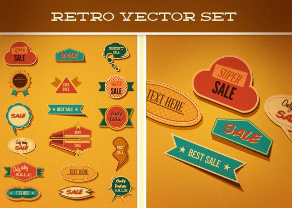 Retro Vector Set 2 Vector packs retro