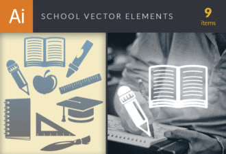 School Vector Elements Set 1 Vector packs broom