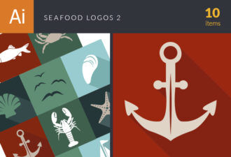 Seafood Logos Vector 2 Vector packs shell
