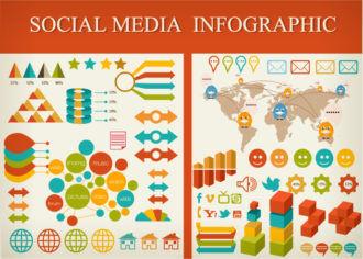 Social Media Infographic Vector Infographics arrow