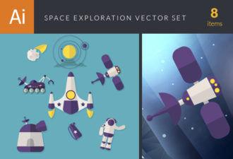 Space Exploration Vector Set Vector packs sun