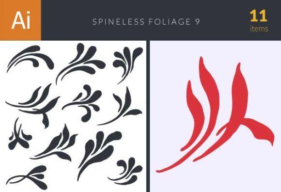 Spineless Foliage Set 9 Vector packs foliage