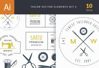 Tailor Labels Vector Set 3 Vector packs vintage