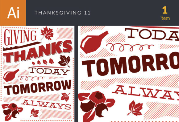 Thanksgiving Vector Set 11 Vector packs [tag]
