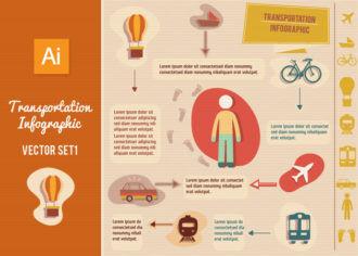 Transportation Infographic Vector Set 1 Infographics car