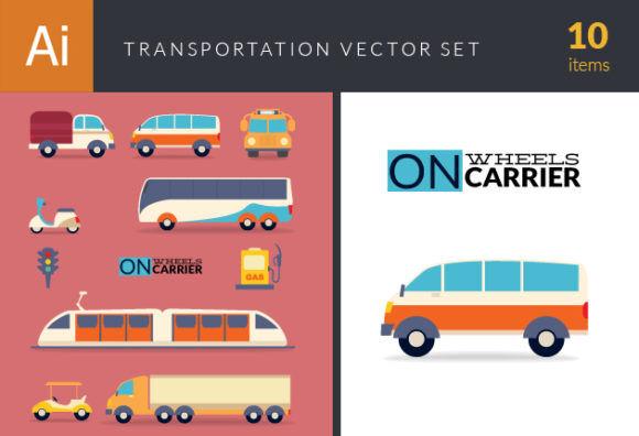 Transportation Vector Set 1 Vector packs truck