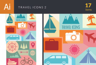 Travel Icons Vector Set 2 Vector packs palm tree
