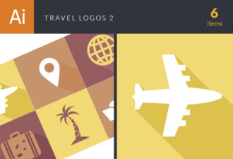 Travel Logos Vector 2 Vector packs palm tree