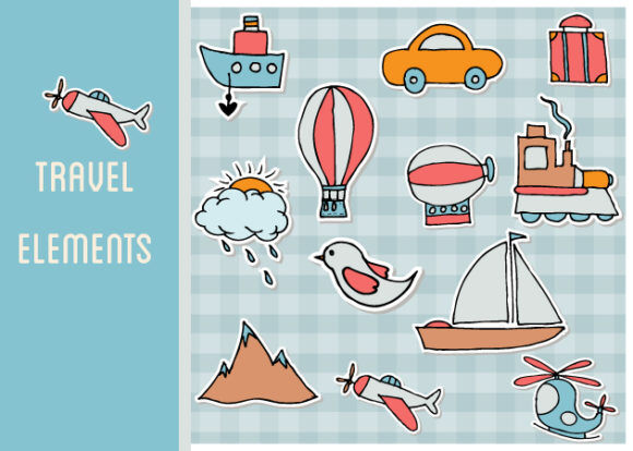 Travel Vector Set 1 Vector packs bird
