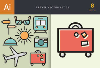 Travel Vector Set 21 Vector packs glasses