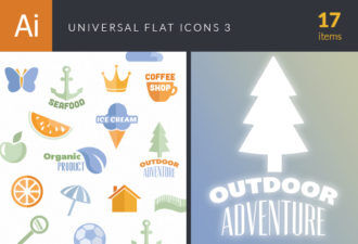 Universal Flat Icons Vector Set 3 Vector packs ball