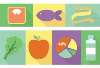 Dietician Vector Vector packs fish
