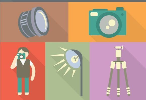 Photographer Vector Vector packs flat