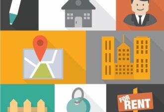 Real Estate Agent Vector Vector packs building