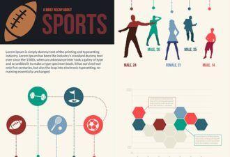 Sports Vector Infographics Infographics vector