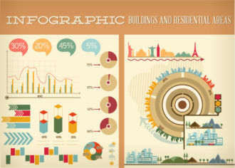 Buildings and Residential Areas Infographics Infographics building