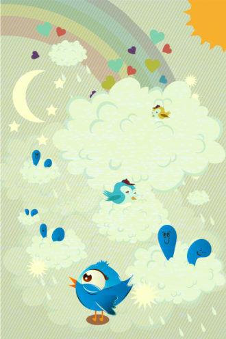 abstract birds vector illustration Vector Illustrations star