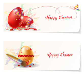 easter banners vector illustration Vector Illustrations vector