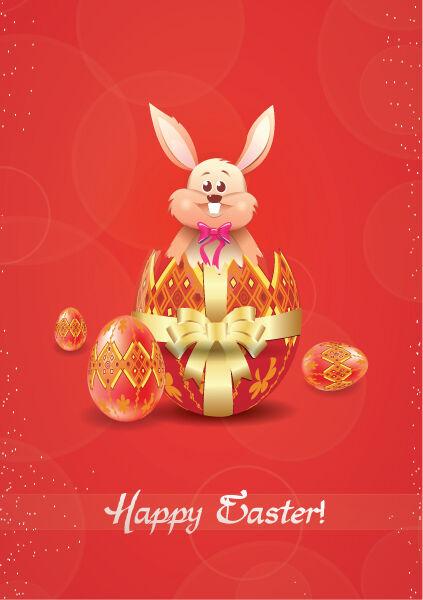 bunny with eggs vector illustration Vector Illustrations vector