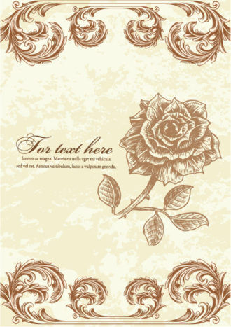 vintage floral background vector illustration Vector Illustrations old