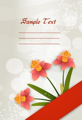 vector spring floral background Vector Illustrations floral