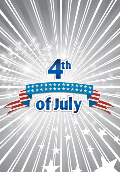 vector 4th of july independence day background Vector Illustrations star