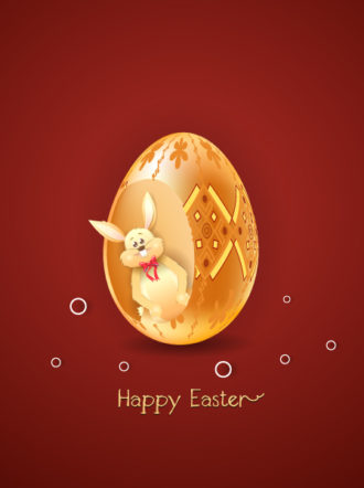 easter background with bunny vector illustration Vector Illustrations vector
