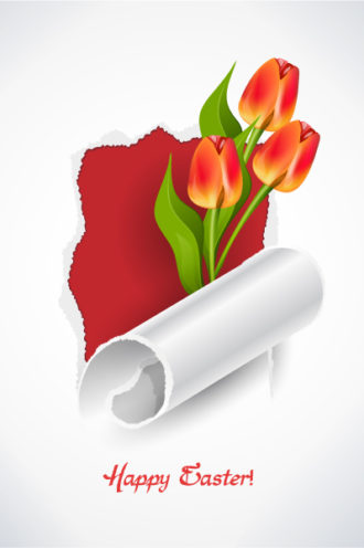 spring background with tulips face vector illustration Vector Illustrations floral