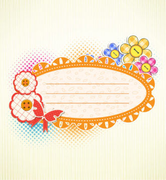 vector abstract frame with butterfly Vector Illustrations vector